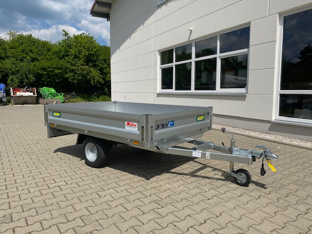 Unsinn P 823-10-1500, 750 kg PKW Anhänger 230x150x30 cm, Hochlader